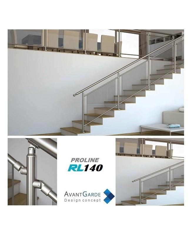 Garde corps verre et aluminium rl140 for Garde corps verre securit