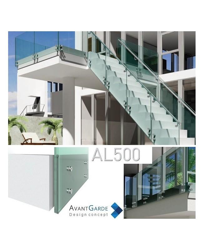 Garde-corps tout verre pour terrasse extérieur AL500 - 123materiaux.com