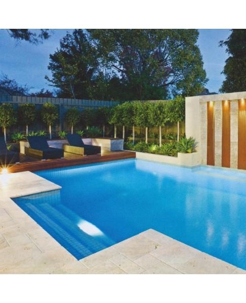 Travertin pour terrasse plage piscine ZEN - 123materiaux.com