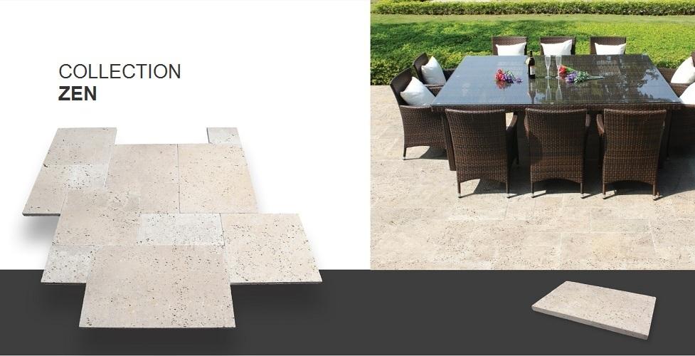 dalle 3cm en pierre naturelle zen. Black Bedroom Furniture Sets. Home Design Ideas