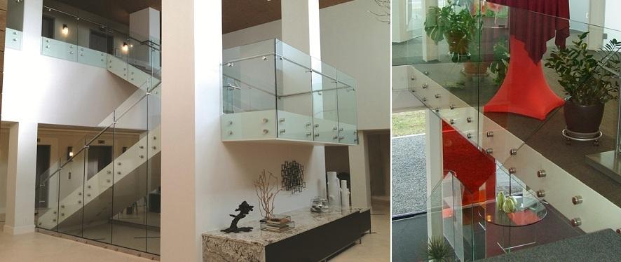 garde corps tout verre pour escalier al500. Black Bedroom Furniture Sets. Home Design Ideas