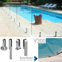 Garde-corps verre et aluminium V300