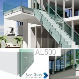 Garde-corps verre et aluminium AL500