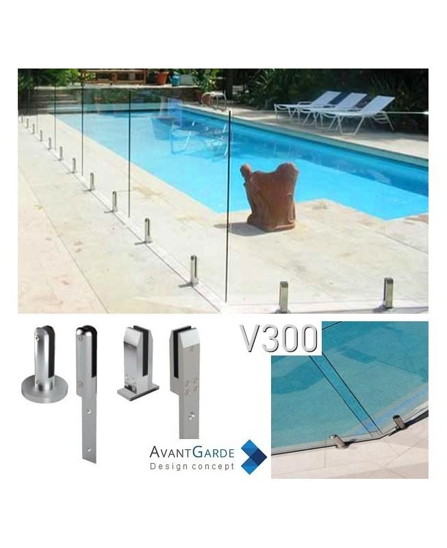 Barrière piscine verre sans poteau V300