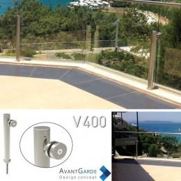 Garde-corps verre et profil aluminium V400