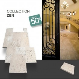 Carrelage travertin salle de bain Zen