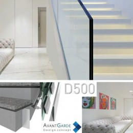 Garde-corps verre et aluminium D500