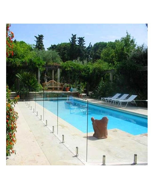 Barrière de piscine en verre feuilleté trempé securit