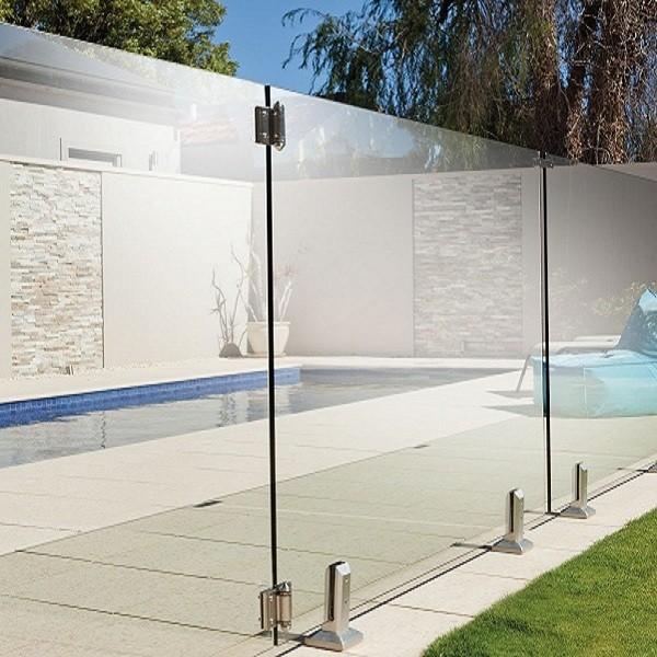 Balustrade piscine verre pose latérale