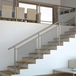 Garde corps escalier en verre feuilleté trempé securit RL140