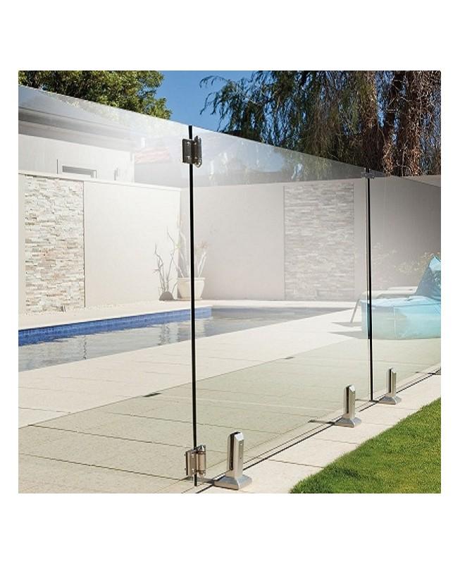 Barrière piscine verre minimaliste