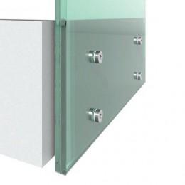 Garde-corps paroi de verre en profilé aluminium pose latérale à l'anglaise AL500