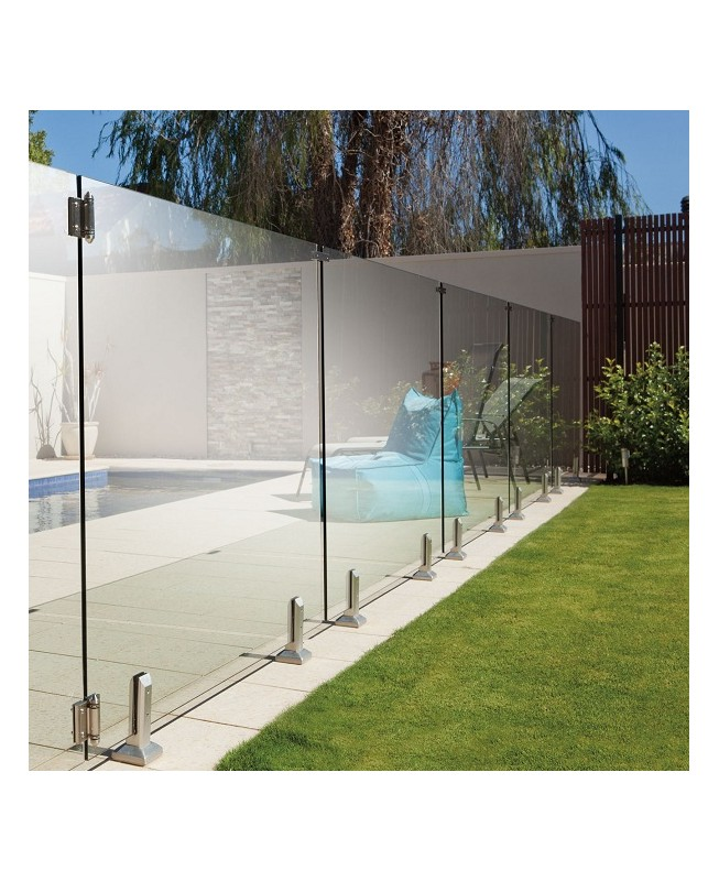Portillon piscine tout verre