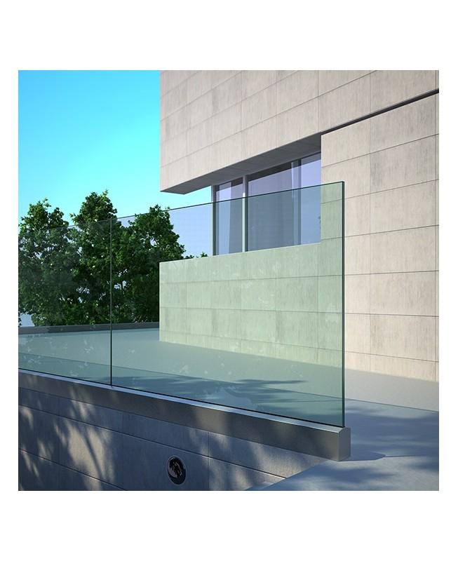 Garde corps verre extérieur pour terrasse