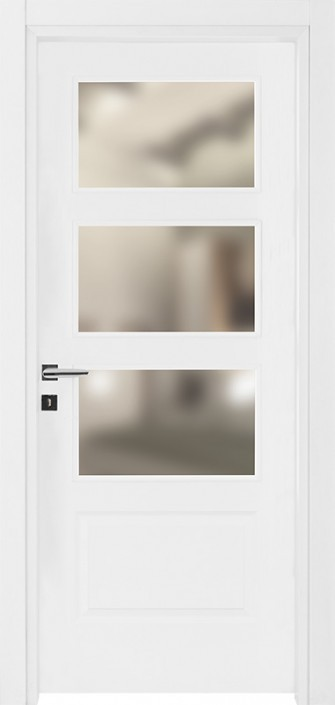 Bloc-porte vitrée PRESTIGE en finition blanc