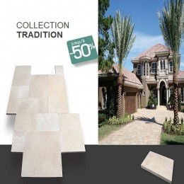 Carrelage terrasse en travertin Tradition