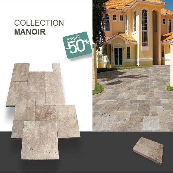 Dalle terrasse exterieur en pierre naturelle MANOIR
