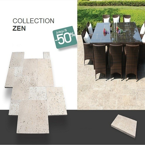 Dalle terrasse exterieur en pierre naturelle ZEN