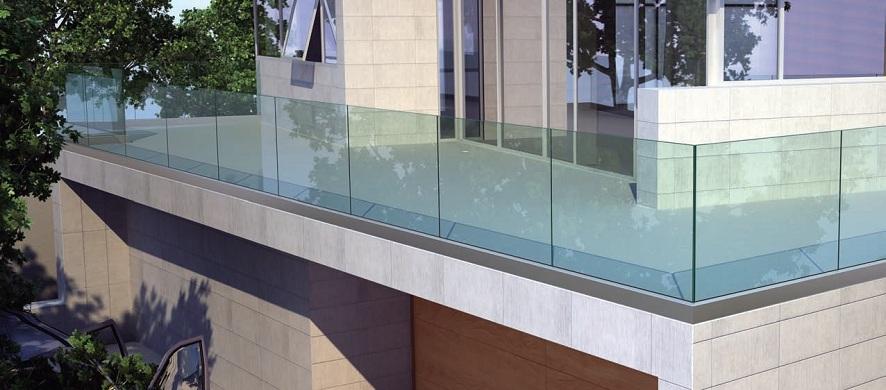 Garde-corps en verre et profil alu pose extérieur
