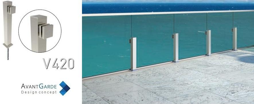 Garde-corps extérieur verre et aluminium