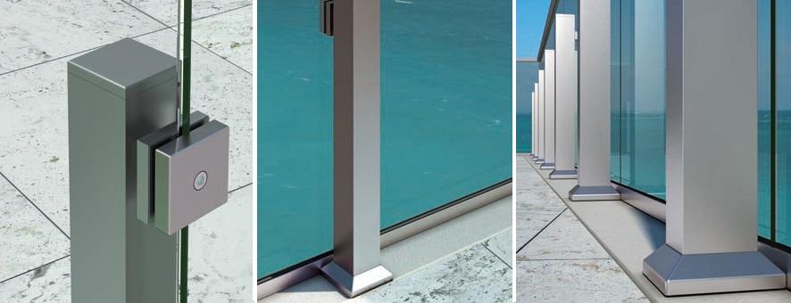 Garde-corps verre aluminium terrasse balcon