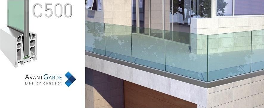 Garde-corps verre extérieur pour terrasse