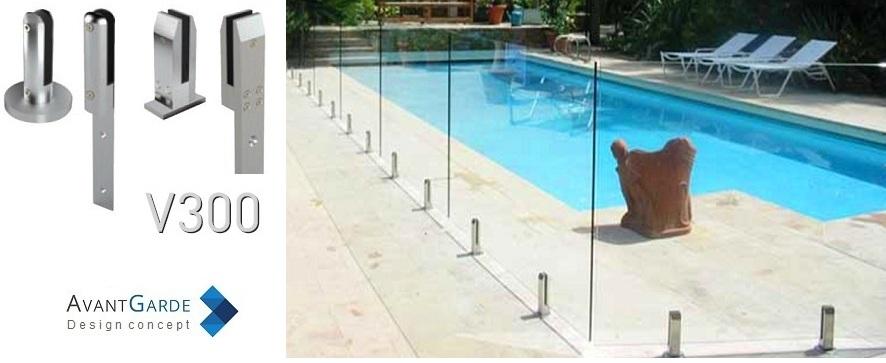 Barrière piscine verre V300