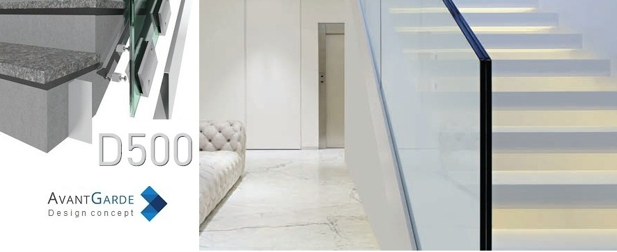 garde-corps intérieur verre pour rambarde ou rampe escalier